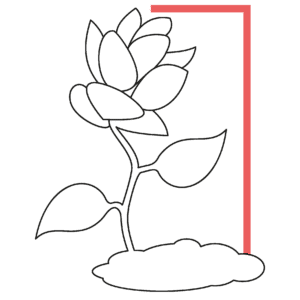 incubator studio pictogram of a flower blossoming in a frame SME small medium enterprise business growth branding positioning