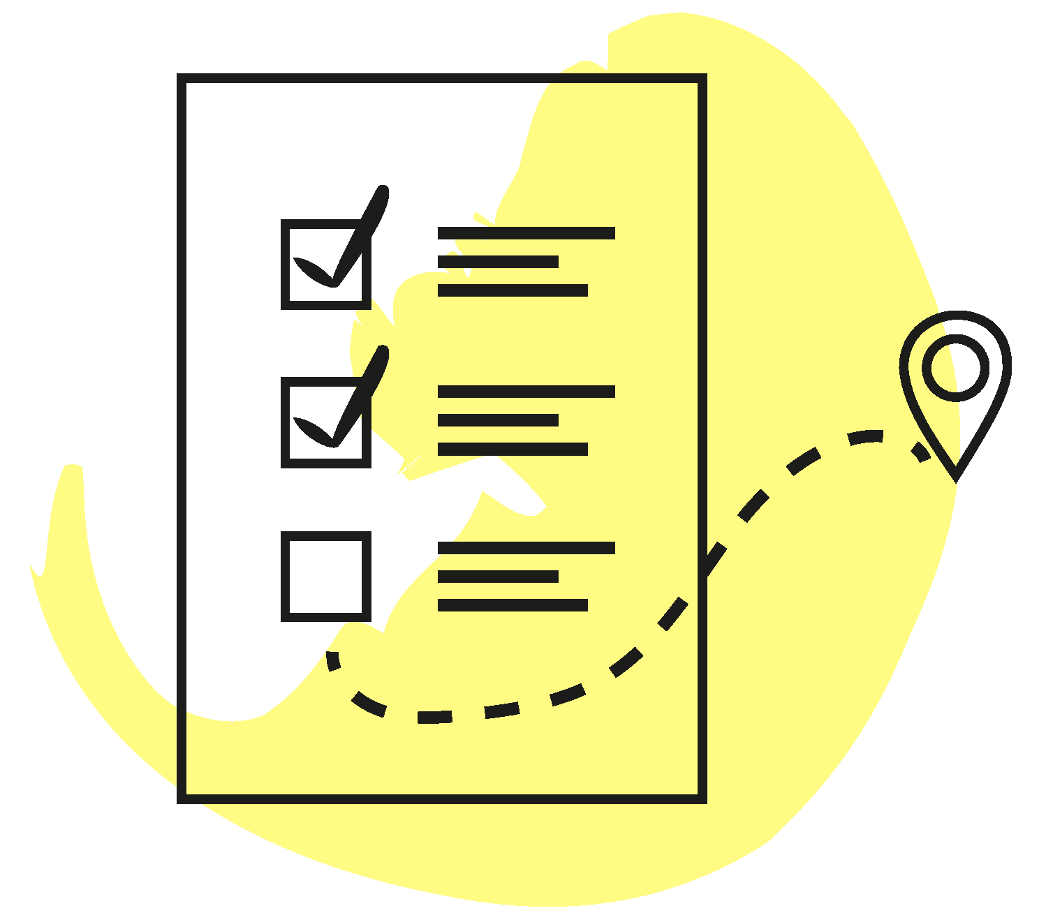 Incubator Studio pictogram representing a checklist consulting coaching branding marketing growth efficiency methodology expertise