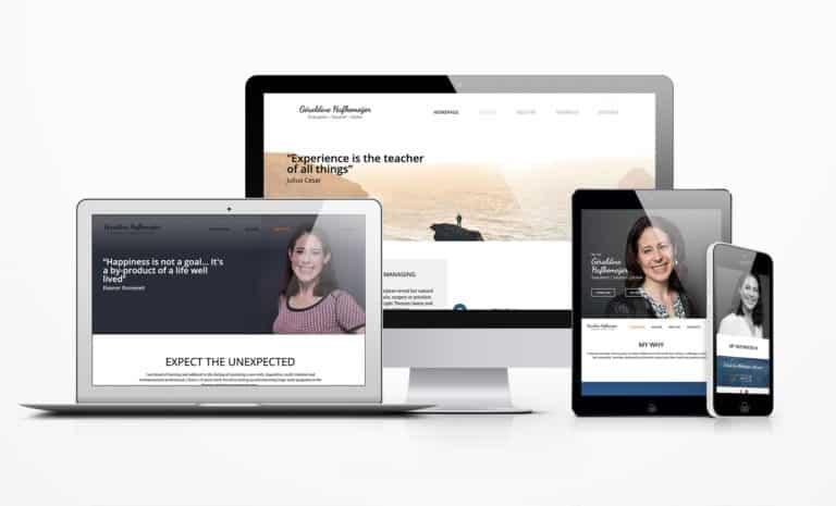 Géraldine Hafkemeijer personal branding website mockup