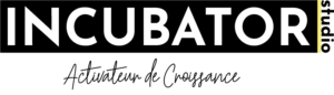 incubator studio logo noir avec slogan marketing branding webdesign agency
